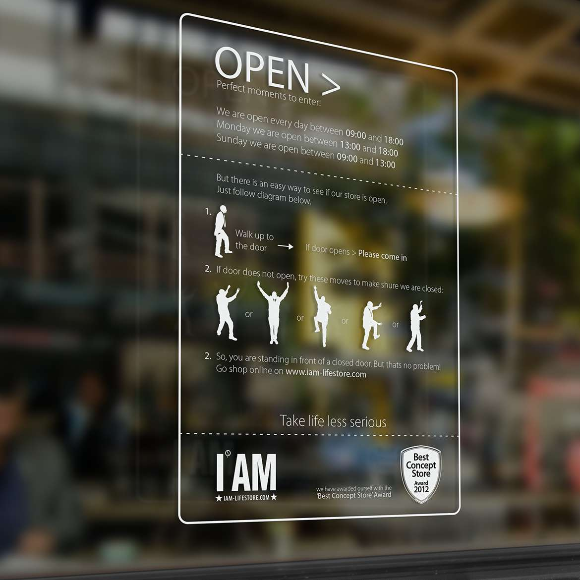 I AM Lifestore openingsuren