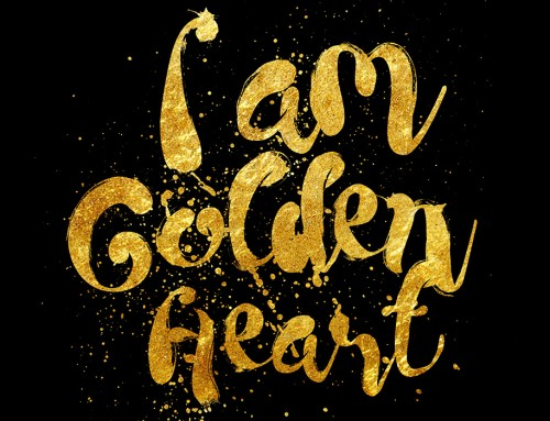 I AM Golden Heart Girls T-shirt print